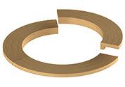 Установочный фланец для печей модели Round