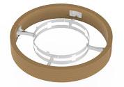 Деревянное ограждение для печей модели Round